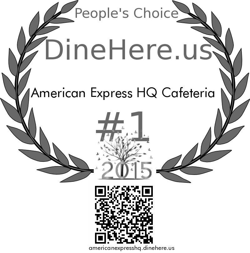 American Express HQ Cafeteria DineHere.us 2015 Award Winner